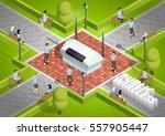 public wireless technology... | Shutterstock .eps vector #557905447
