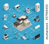 consumer electronics isometric... | Shutterstock .eps vector #557905453