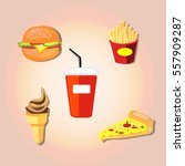 fast food | Shutterstock .eps vector #557909287