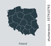 map of poland | Shutterstock .eps vector #557910793