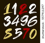 vector set of calligraphic... | Shutterstock .eps vector #557911297