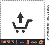 remove shopping cart icon flat. ... | Shutterstock .eps vector #557911507