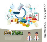 food science concept. food... | Shutterstock .eps vector #557912677