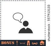 dialog icon flat. simple vector ...