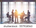 meeting room. group of... | Shutterstock . vector #557918563