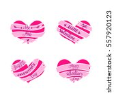 happy valentines day pink... | Shutterstock .eps vector #557920123
