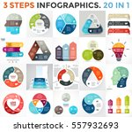 vector circle infographic set.... | Shutterstock .eps vector #557932693