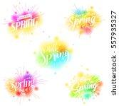 spring banners set. vector... | Shutterstock .eps vector #557935327
