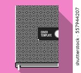 book cover design template with ... | Shutterstock .eps vector #557944207