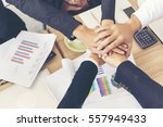 business teamwork trust in... | Shutterstock . vector #557949433