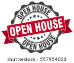 open house. stamp. sticker.... | Shutterstock .eps vector #557954023