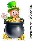 A Cartoon Leprechaun St...