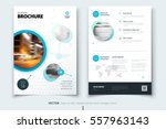 brochure design. corporate... | Shutterstock .eps vector #557963143
