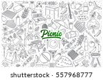 hand drawn set of picnic... | Shutterstock .eps vector #557968777