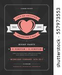 happy valentines day party... | Shutterstock .eps vector #557973553