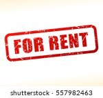 illustration of for rent text... | Shutterstock .eps vector #557982463