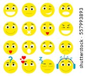set of emoticons. smiley icons... | Shutterstock .eps vector #557993893