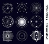 sacred geometry set. alchemy ... | Shutterstock .eps vector #558004033