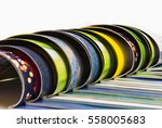 stack of magazines isolated on... | Shutterstock . vector #558005683