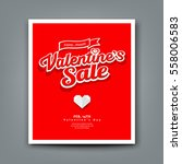 happy valentine's day sale on... | Shutterstock .eps vector #558006583