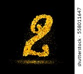 beautiful card with number 2... | Shutterstock .eps vector #558011647