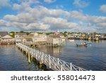 nantucket harbor   view in... | Shutterstock . vector #558014473
