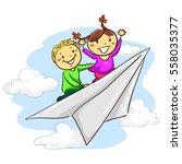 vector illustration of stick... | Shutterstock .eps vector #558035377