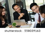 asia businessman brainstorming...   Shutterstock . vector #558039163
