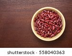 Red Kidney Beans On A Wooden...
