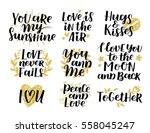 vector set of handwritten... | Shutterstock .eps vector #558045247