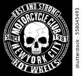 skull t shirt graphic design | Shutterstock .eps vector #558045493