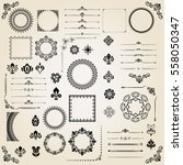 vintage set of classic elements.... | Shutterstock .eps vector #558050347