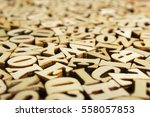 close up letters of the...   Shutterstock . vector #558057853