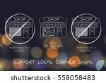 concept of supporting corner... | Shutterstock . vector #558058483