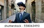 young handsome well dressed...   Shutterstock . vector #558063493