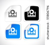 vector square stickers | Shutterstock .eps vector #55806796