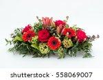 funeral flower arrangement for...   Shutterstock . vector #558069007