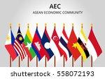 asean economic community and... | Shutterstock .eps vector #558072193