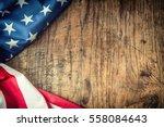 usa flag. american flag.... | Shutterstock . vector #558084643
