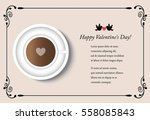 cup of coffee and heart on a... | Shutterstock .eps vector #558085843