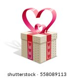 gift box for valentine's day | Shutterstock .eps vector #558089113