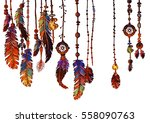 seamless border of ornate... | Shutterstock .eps vector #558090763