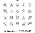 financial pixel perfect well... | Shutterstock .eps vector #558091897