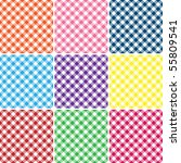 nine gingham plaids | Shutterstock . vector #55809541