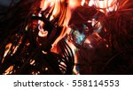 wires on fire. firing winding... | Shutterstock . vector #558114553