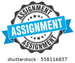 assignment. stamp. sticker.... | Shutterstock .eps vector #558116857
