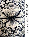 flower texture on ceramic vase | Shutterstock . vector #558121183