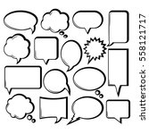 comic outline speech bubble... | Shutterstock .eps vector #558121717