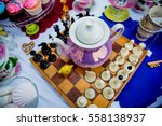 holiday themed table for the... | Shutterstock . vector #558138937