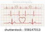 Vector Heart Cardiogram Charts...